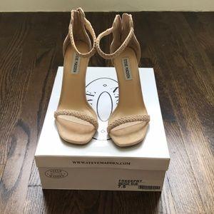 STEVE MADDEN FREEPRT beige suede sandal